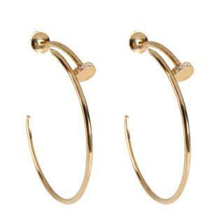 Cartier Juste Un Clou 18K Yellow Gold Diamond Earrings