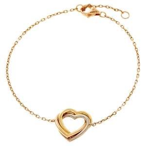 Cartier Trinity de Cartier Heart 18k Three Tone Gold Bracelet