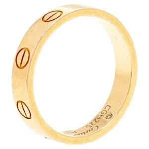 Cartier Love 18K Yellow Gold Narrow Wedding Band Ring Size 50
