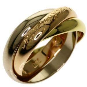 Cartier Les Must de Cartier Trinity 18K Yellow, Rose and White Gold Ring EU 50