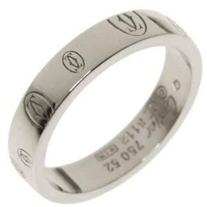 Cartier Happy Birthday 18K White Gold Ring EU 52