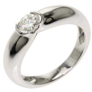 Cartier C De Cartier 18K White Gold Diamond Ring EU 49