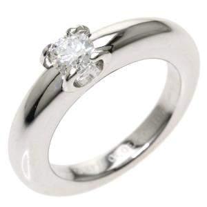 Cartier C De Cartier Solitaire 18K White Gold Diamond Ring EU 48