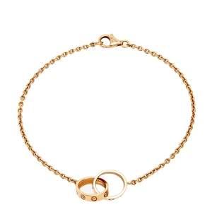 Cartier Love Interlocking 2 Loop 18K Rose Gold Bracelet