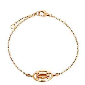 Cartier Double C de Cartier Diamond & 18k Rose Gold Logo Bracelet