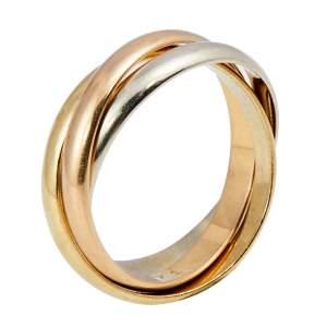 خاتم كارتييه ترينيتي ذهب عيار 18 ثلاثي اللون مقاس 49 بنمط ملفوف