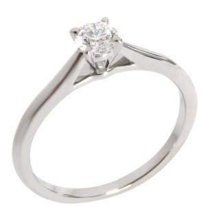 Cartier Solitaire 1895 Platinum Diamond Ring EU 50
