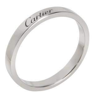 Cartier C De Cartier Band Platinum Ring EU 51