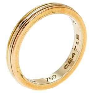 Cartier Trinity 18k Three Tone Gold Narrow Wedding Band Ring Size 52