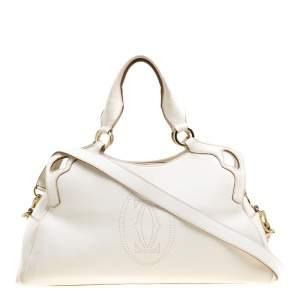 Cartier Cream Leather Marcello de Cartier Bag