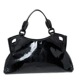 Cartier Black Patent Leather Small Marcello De Cartier Bag