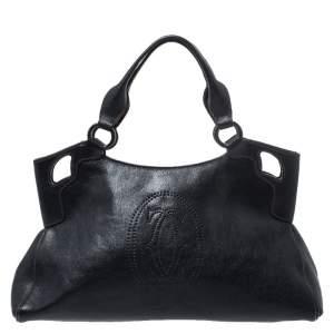 Cartier Black Leather Marcello de Cartier Tote