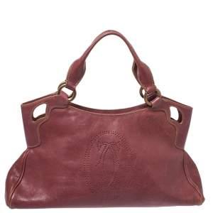 Cartier Red Leather Small Marcello De Cartier Bag