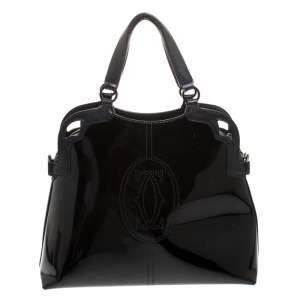 Cartier Black Patent Leather Marcello de Cartier Satchel