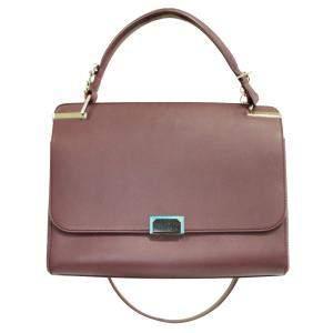 Cartier Dark Purple Leather Jeanne Toussaint Satchel Bag