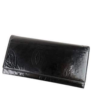 Cartier Black Leather Happy Birthday Wallet