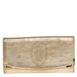 Cartier Gold Leather Marcello de Cartier Flap Wallet