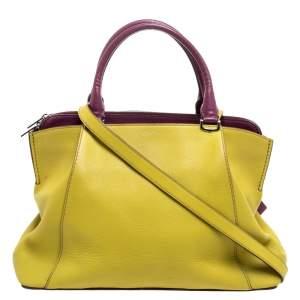 Cartier Yellow/Purple Leather C De cartier Small Tote