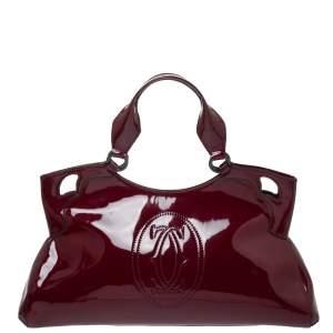 Cartier Burgundy Patent Leather Medium Marcello de Cartier Bag