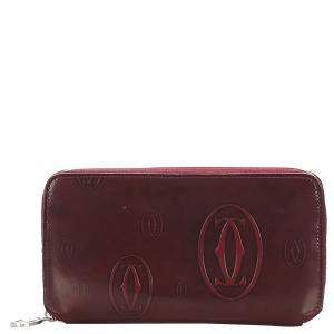 Cartier Red Leather Happy Birthday Continental Wallet