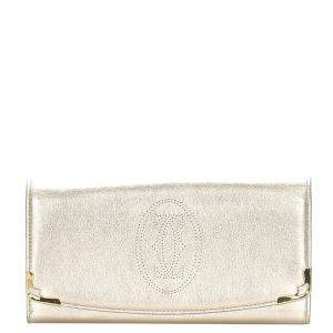 Cartier White Leather Marcello International Wallet