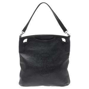 Cartier Black Leather Marcello de Cartier Hobo