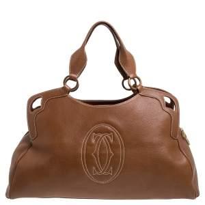 Cartier Brown Leather Large Marcello de Cartier Bag