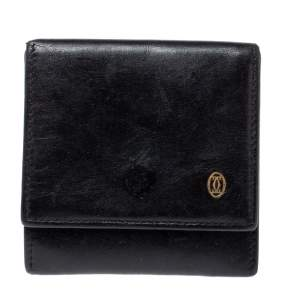Cartier Black Leather Pasha Coin Purse