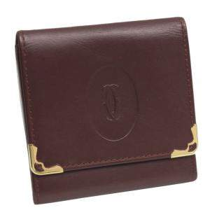 Cartier Red Leather Must de Cartier Small Wallet