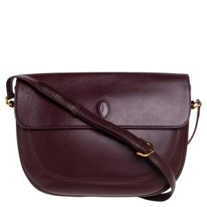 Cartier Burgundy Leather Must De Cartier Shoulder Bag