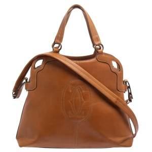Cartier Tan Leather Marcello de Cartier Satchel