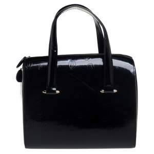 Cartier Black Leather Happy Birthday Satchel