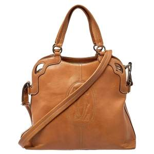Cartier Brown Leather Marcello de Cartier Satchel