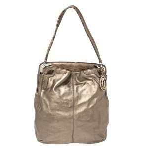 Cartier Metallic Leather and Python Marcello de Cartier Top Handle Bag