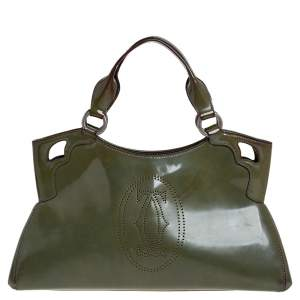 Cartier Green Patent Leather Small Marcello De Cartier Bag