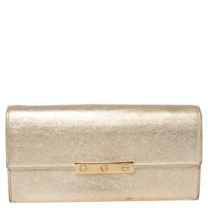 Cartier Metallic Gold Leather Love Continental Wallet