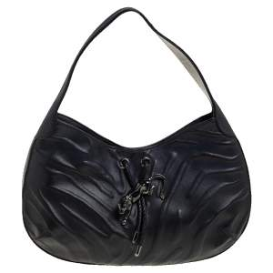 Cartier Black Leather Panthere Hobo