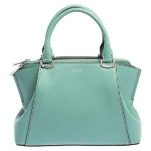 حقيبة ساتشيل كارتييه ميني سي دي كارتييه جلد أخضر مائي