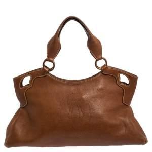 Cartier Brown Leather Medium Marcello de Cartier Bag