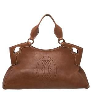 Cartier Brown Leather Marcello De Cartier Bag
