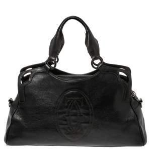 Cartier Dark Brown Leather Small Marcello de Cartier Bag