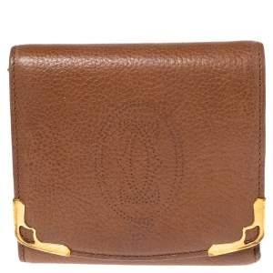 Cartier Tan Leather Marcello de Cartier Trifold Wallet