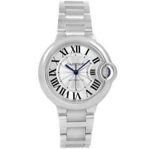 Cartier Silver Stainless Steel Ballon Bleu W6920071 Women's Wristwatch 33MM