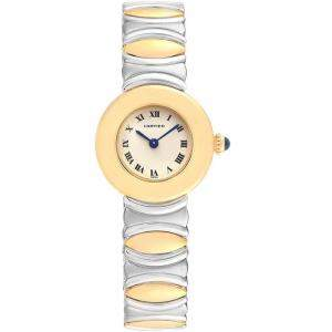 Cartier Silver 18K Yellow Gold Casque 1335 Women's Wristwatch 24MM