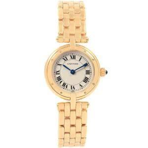 Cartier Silver 18K Yellow Gold Panthere Vendome 6692 Women's Wristwatch 23MM