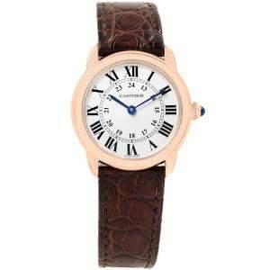 Cartier Silver 18K Rose Gold Ronde Solo W6701007 Small Women's Wristwatch 29MM