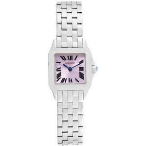 Cartier Purple Stainless Steel Santos Demoiselle W2510002 Women's Wristwatch 20MM