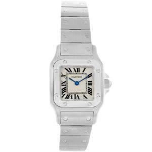 Cartier Silver Stainless Steel Santos Galbee W20056D6 Women's Wristwatch 24MM