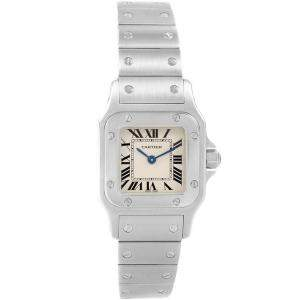 Cartier Silver Stainless Steel Santos Galbee Small W20056D6 Women's Wristwatch 24MM