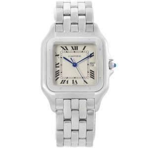 Cartier Silver Stainless Steel Panthere Jumbo W25032P5 Women's  Wristwatch 29MM